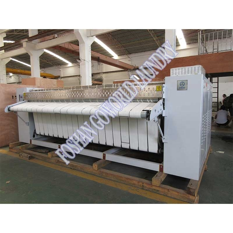 High performance chest--roller style flat ironer machine for Uruguay market