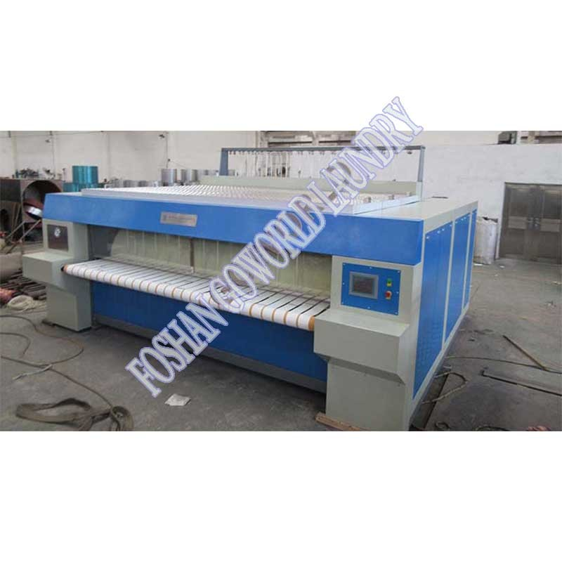 hospitality flat ironer-single chest and single roller industrial ironing machine