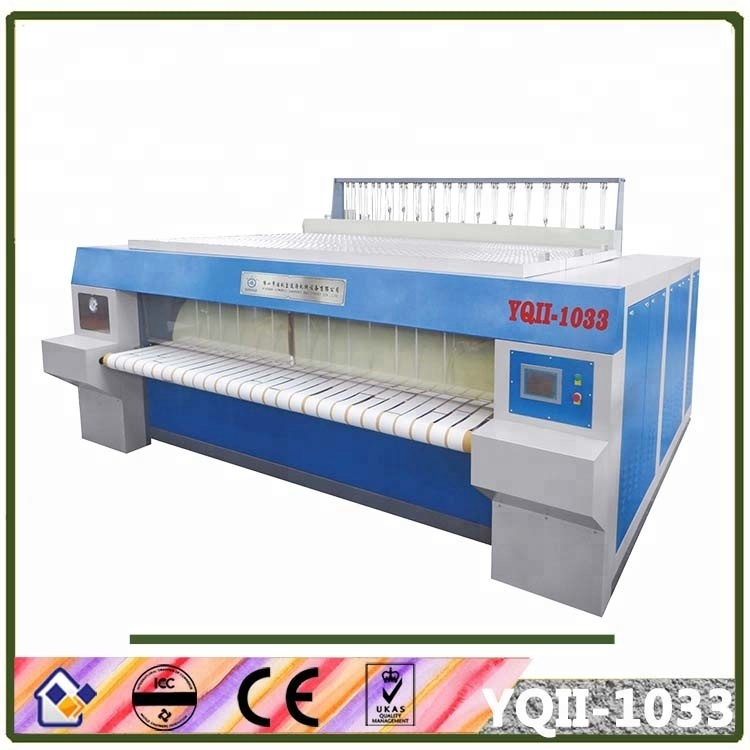 Gas heating Double Chest Roller Style Flat Ironer