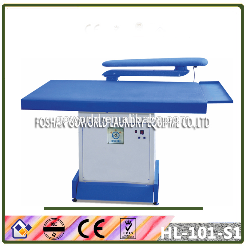 high grade vacuum laundry iron table,laundry equipment factory