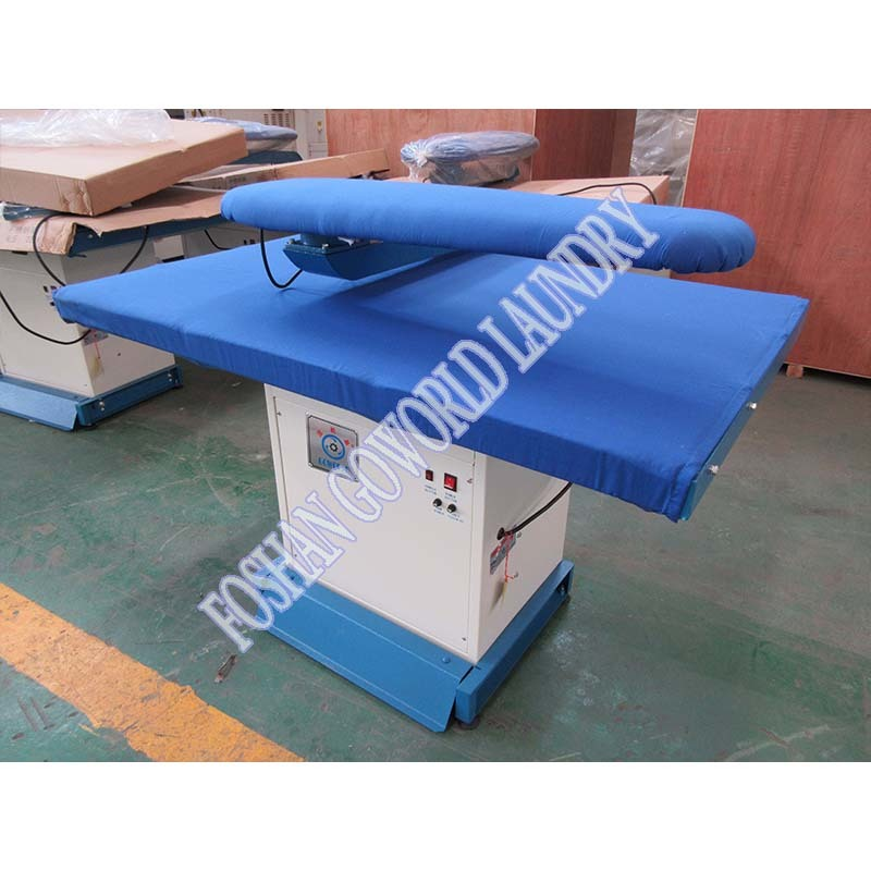 high grade vacuum laundry iron table,laundry equipment factory