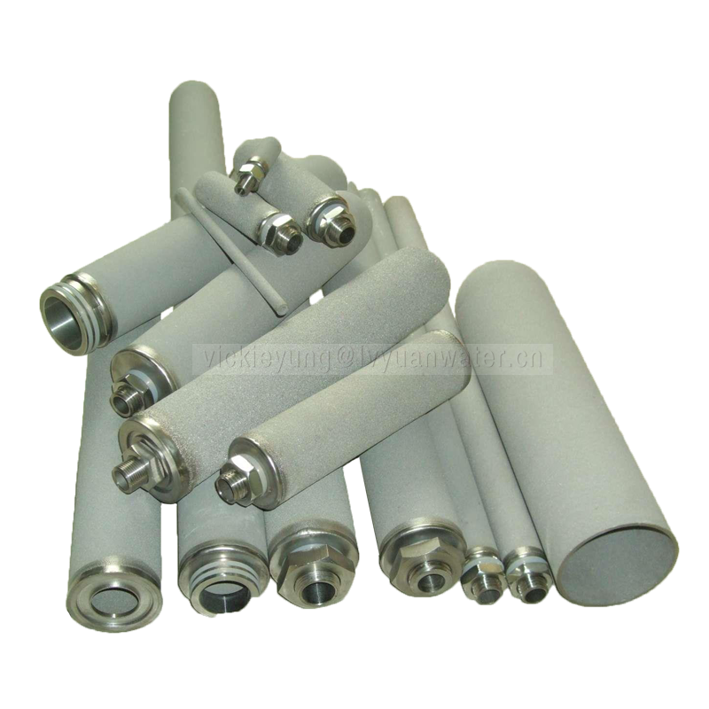 Micropore reusable titanium replacement water filter for types chemical reagents