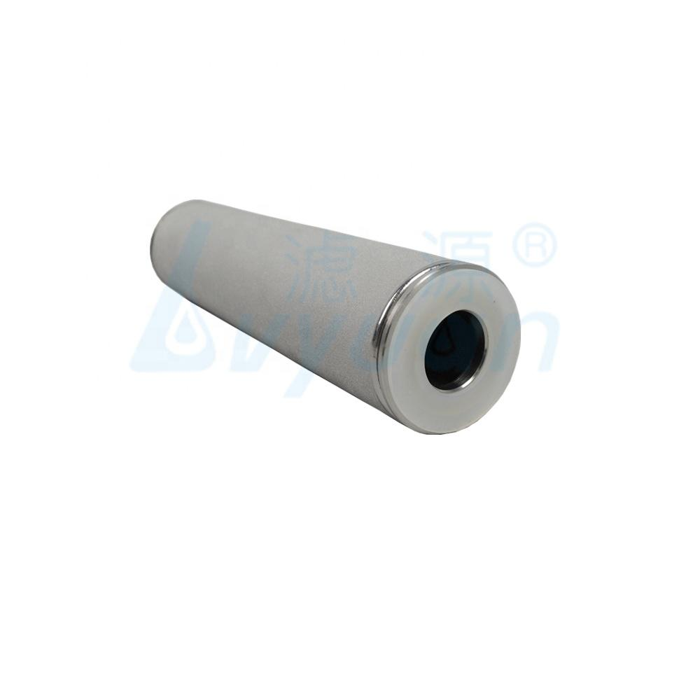 0.2 1 3 5 10 30 100 micron Food Grade Sintered metal filter /Titanium Filter cartridge for Gas and Water Filtration