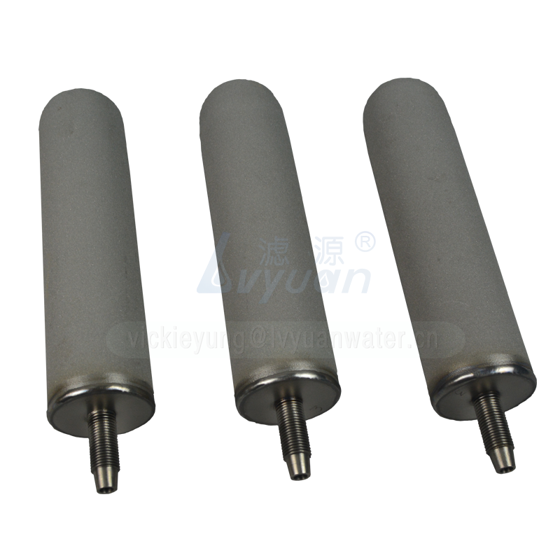 Pure titanium rod 40 inch stainless steel sintered filter with 222 226 connector