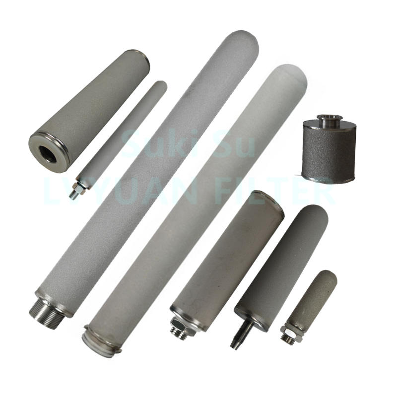 China factory Custom M12 M42 215 226 222 DOE SS Sintered titanium power powder candle filter for water liquids gas filtration