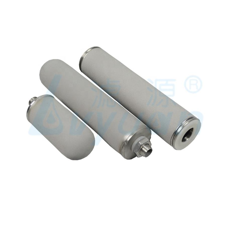 200 micron sintered titanium water filter cartridge for industrial water filtration