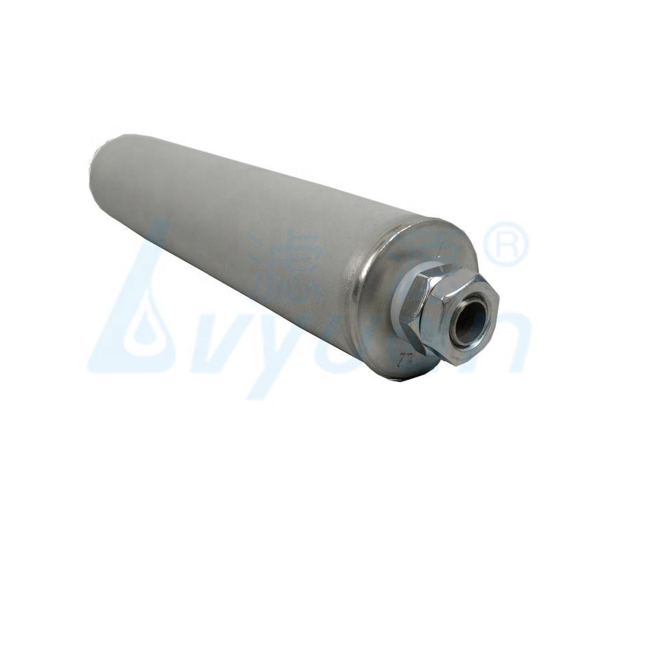 10 20 30 40 inch 5 Micron Porous Sintered Metal filter tube Titanium water Filter cartridge for filtration