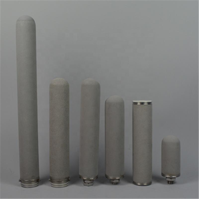 Sintered Titanium Metal Powder filter cartridge with DOE 222 226 adapter