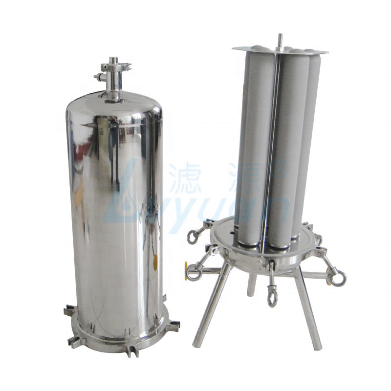 0.45 0.1 1 3 5 10 micron 0.22um Titanium Cartridge Filter with SS Filter Housing 10 20 30 40 inch for drinking water treatment