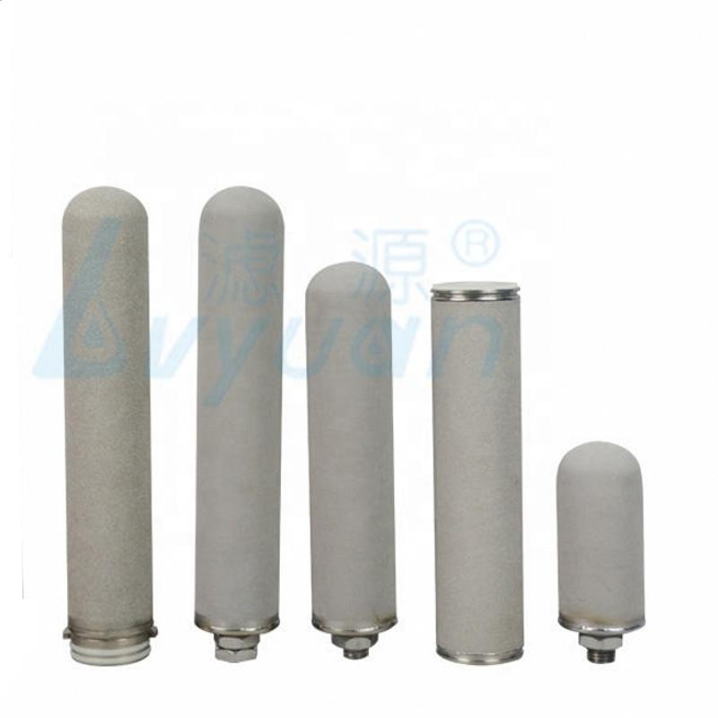 Sintered porous 20 inch titanium filter for industry water purification