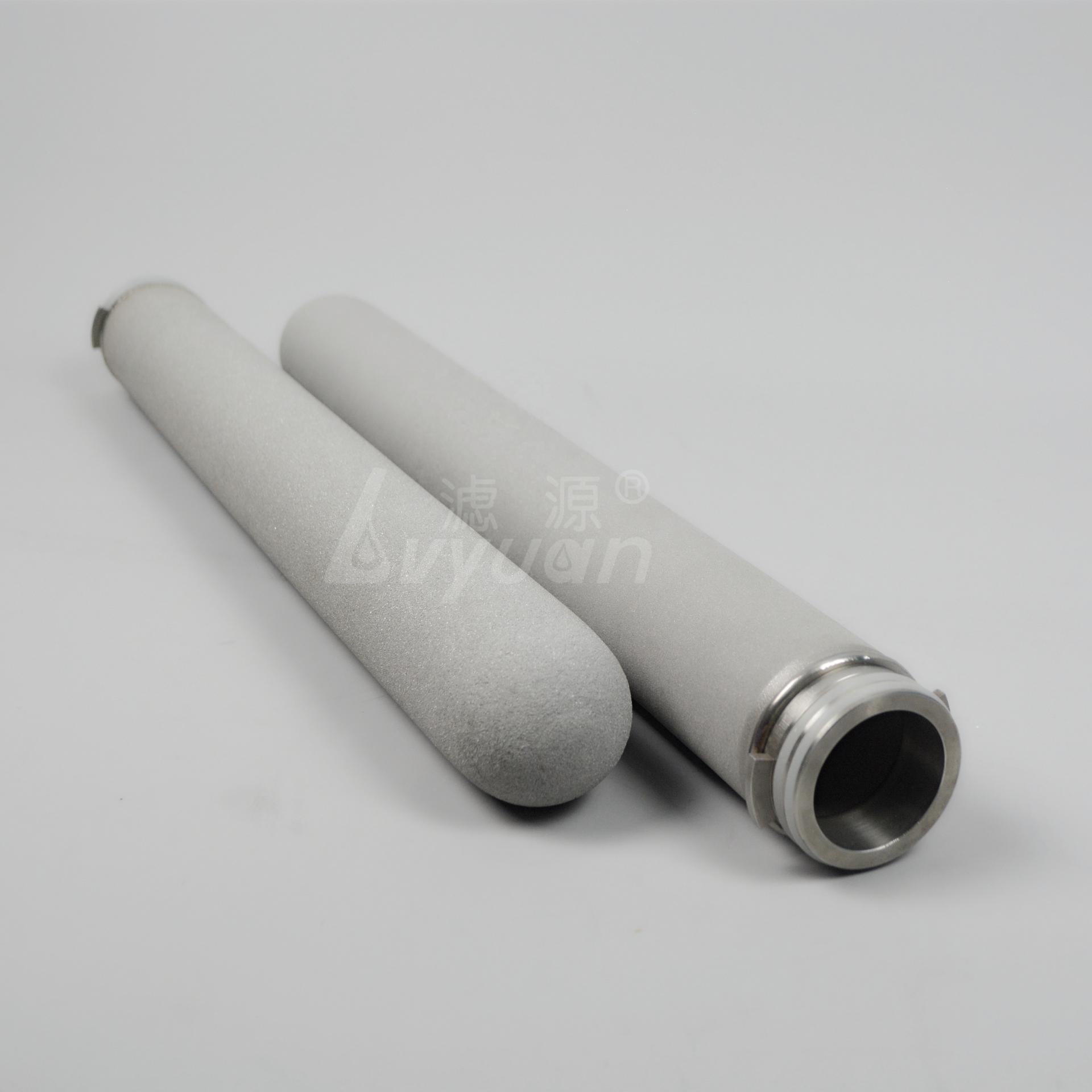 5'' 10 20 30 40 inch porous titanium filter /sintered titanium rod water filter cartridge for filtration