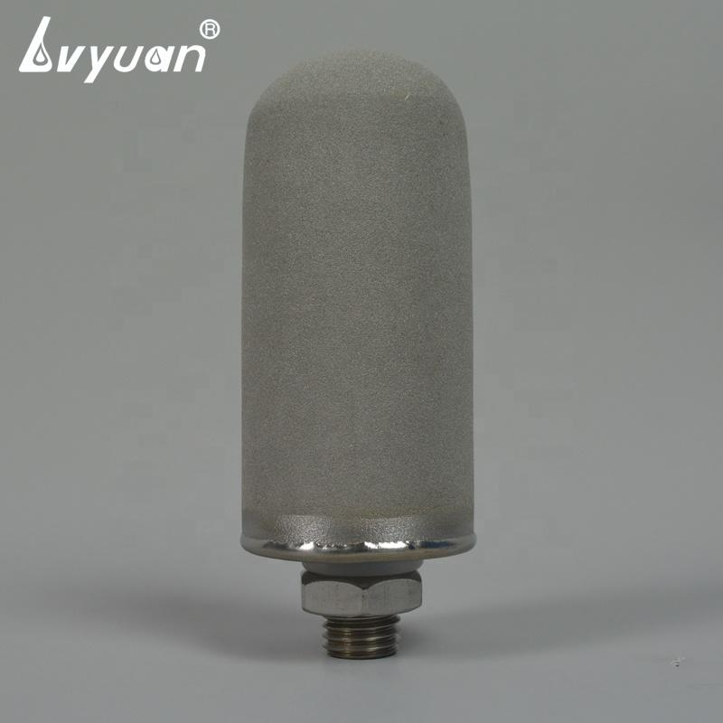 30'' inch titanium metal porous water filter cartridge with 5 micron and thread interface