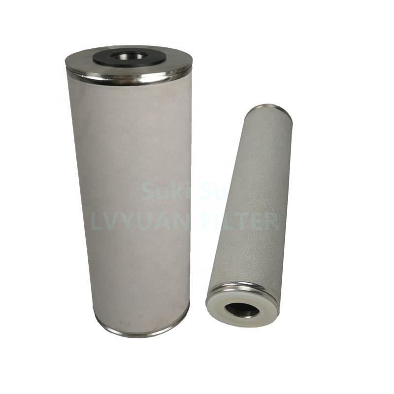 4.5x10 20 inch BB big blue 0.45 1 5 25 um Porous Sintered titanium water filter cartridge for Backwash filters element