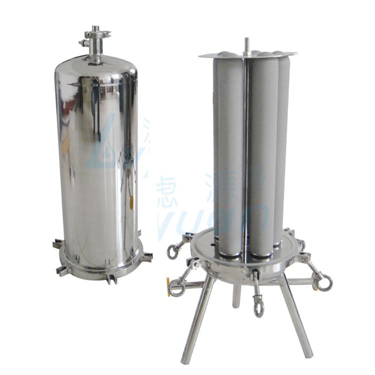 China manufacture 20 40 inch 1 micron sintered metal porous filter tube/titanium filter tube