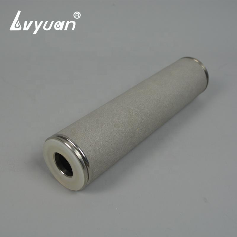 0.1um-80um sintered titanium powder candle filter for gases and liquids filtration