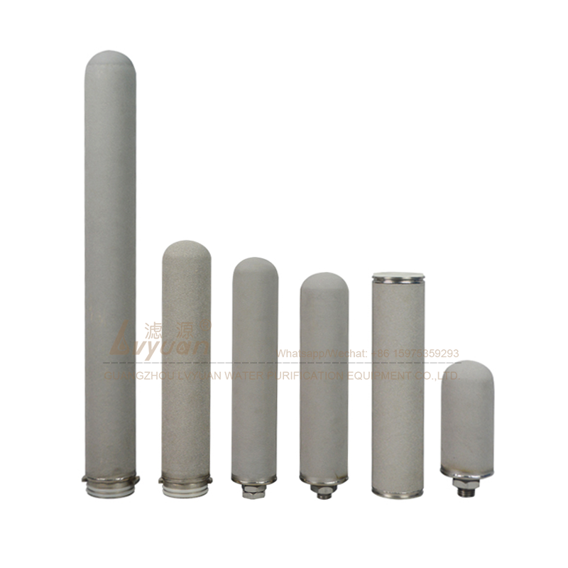 Sintering porous water filter 10 20 30 40 inch titanium rod filter cartridge for 50 microns chemical liquid water filtration