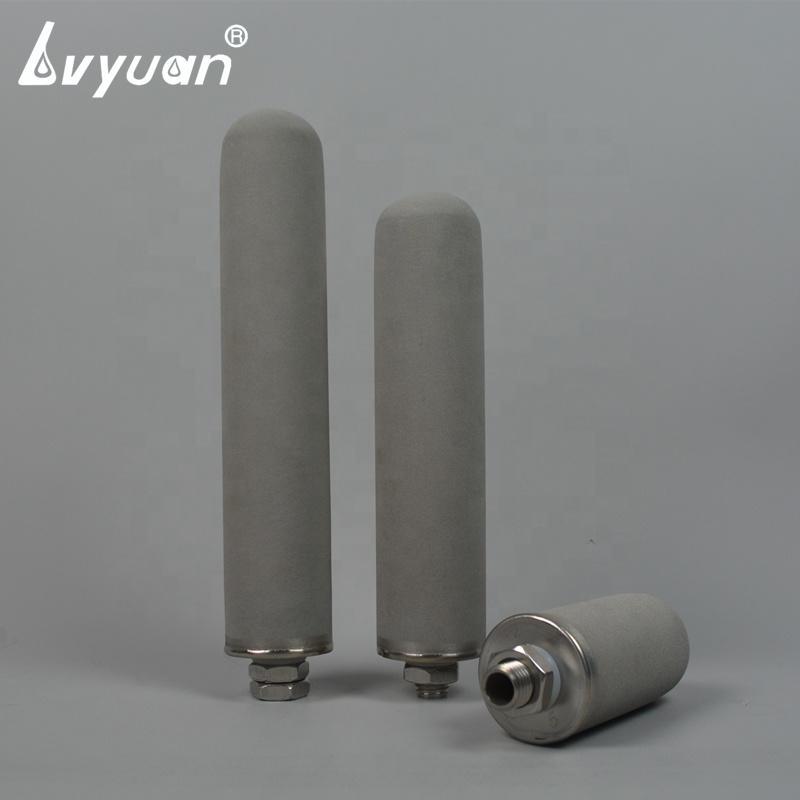 0.1um-80um sintered titanium powder candle filter for gases and liquids filtration