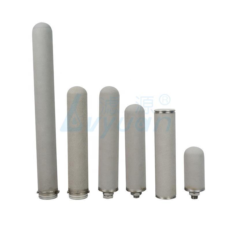 Metal sinter water filter element titanium powder sintered for Food industry