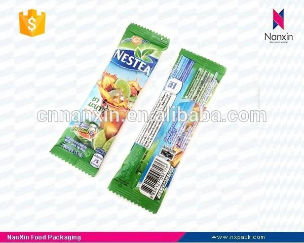 plastic instant beverage packaging back seal sachet