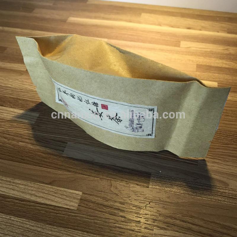 Tea pack kraft paper bag heat seal brown kraft paper sachet