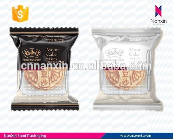 custom printing plastic moon cake packaging bag