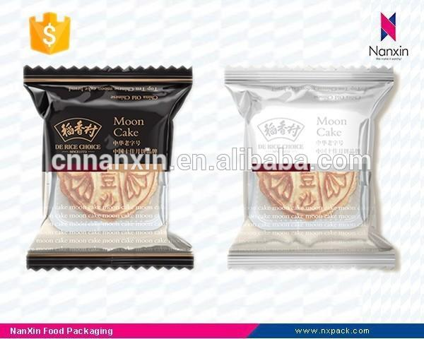 custom printing plastic moon cake packaging bag