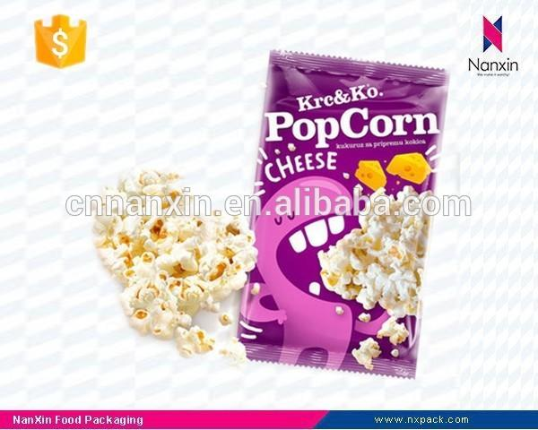 plastic popcorn packaging back seal bag