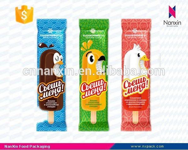 small plastic ice cream packaging back seal bag
