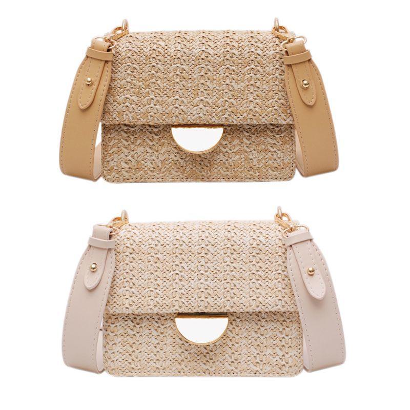 Ladies Straw Woven 2020 Summer Beach Travel Shoulder Bag Women New Fashion Handbags Elegant Female Messenger Tote Crossbody bags
