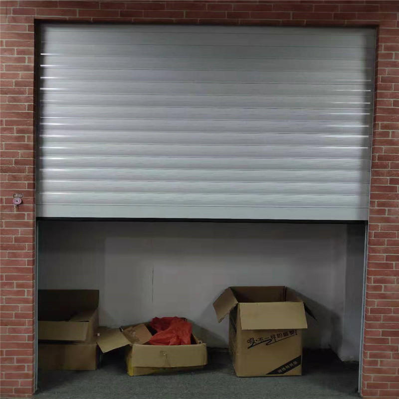 White 8*8 feet hollow aluminum roller shutter with motor and cover