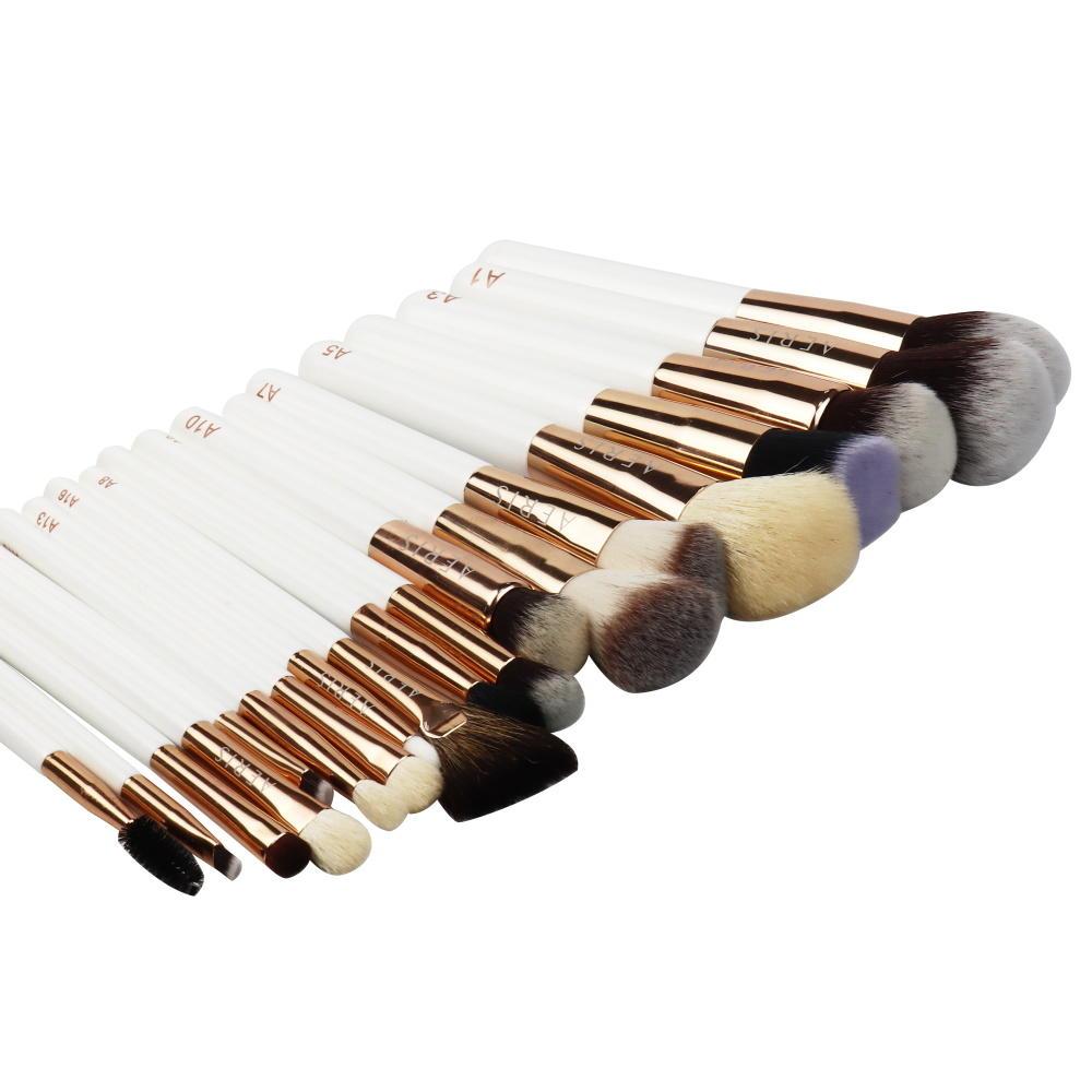 Pink professional eye shadow and face luxury makeup brush Vegan makeup brush set