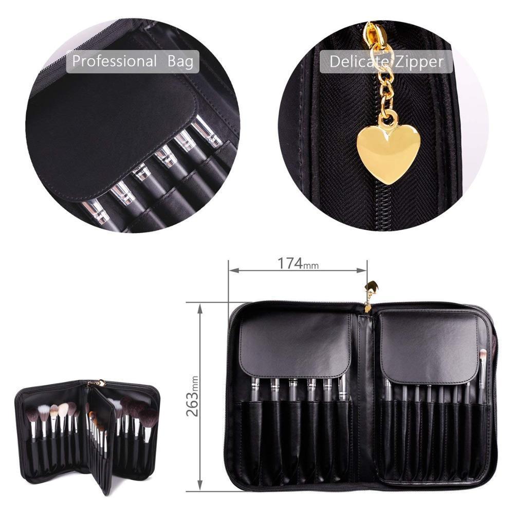24 pcs Professional private label bag Goat Animal Natural hair Makeup Brush Set