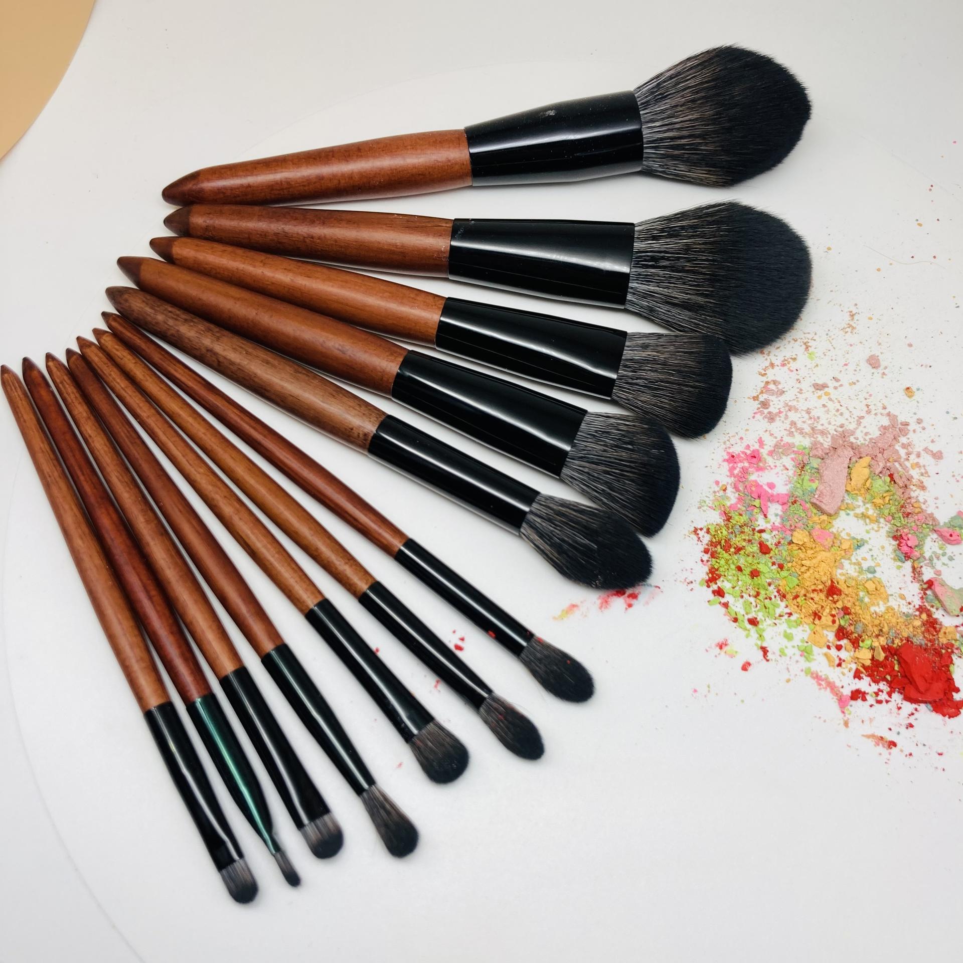 Brushes holder cosmetic make up high quality brushes kit professional custom logo cosmetic brush set
