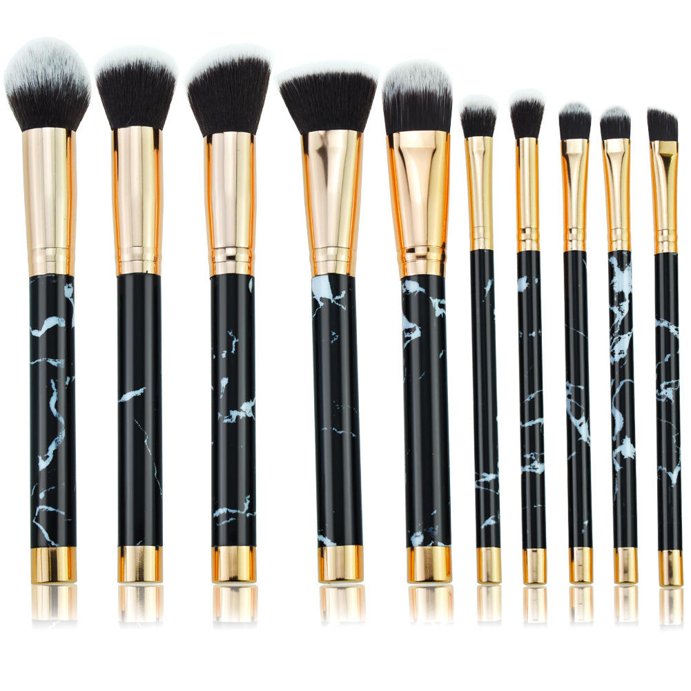 Luxury makeup brushes set eyeshadow makeup brush marble high quality makeup brush set private
