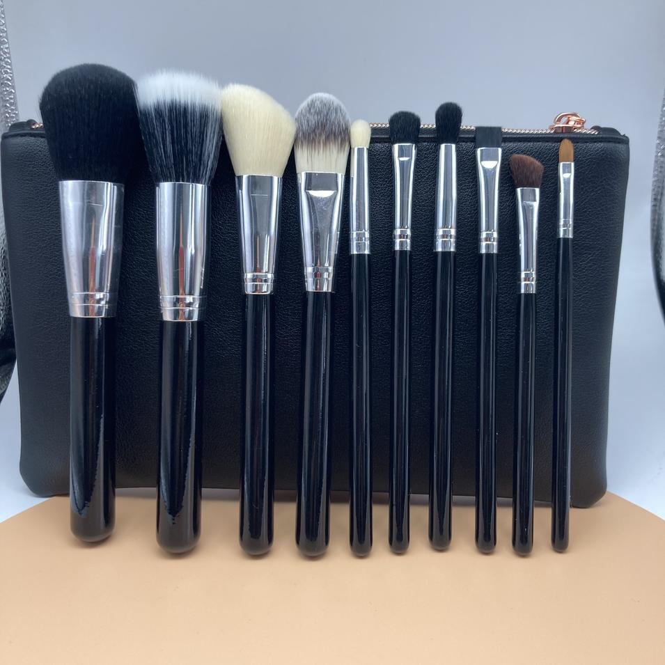 10pcs Best cosmetic brush set wholesale professional cosmetics makeup brush set