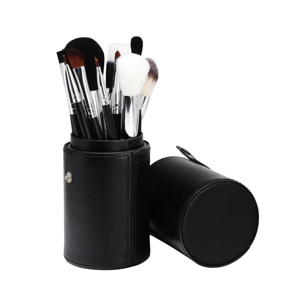 Suprabeauty brand customized color 12pcs natural hair foundation powder eye brow brushes tool custom logo Makeup Brush kit