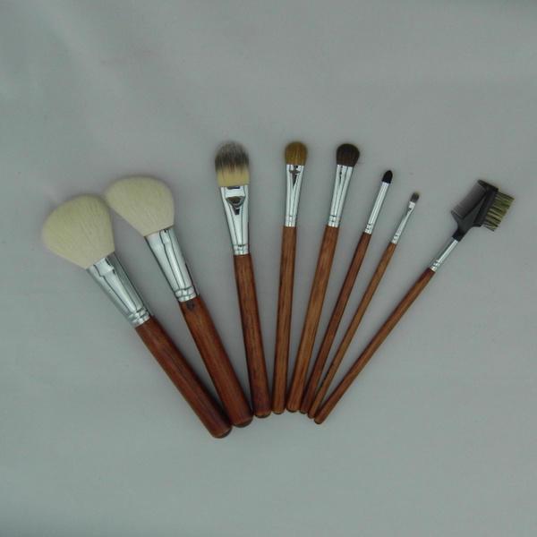 Wholesale black professional luxury flat brush goat hair makeup brushes
