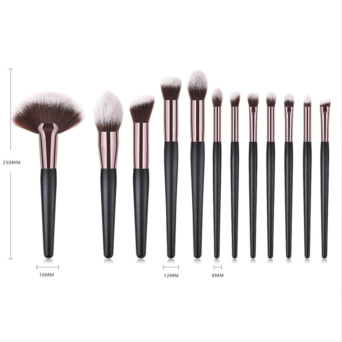 Professional Black Makeup brush set 40pcs big face brush Powder Foundation Contour eye brush