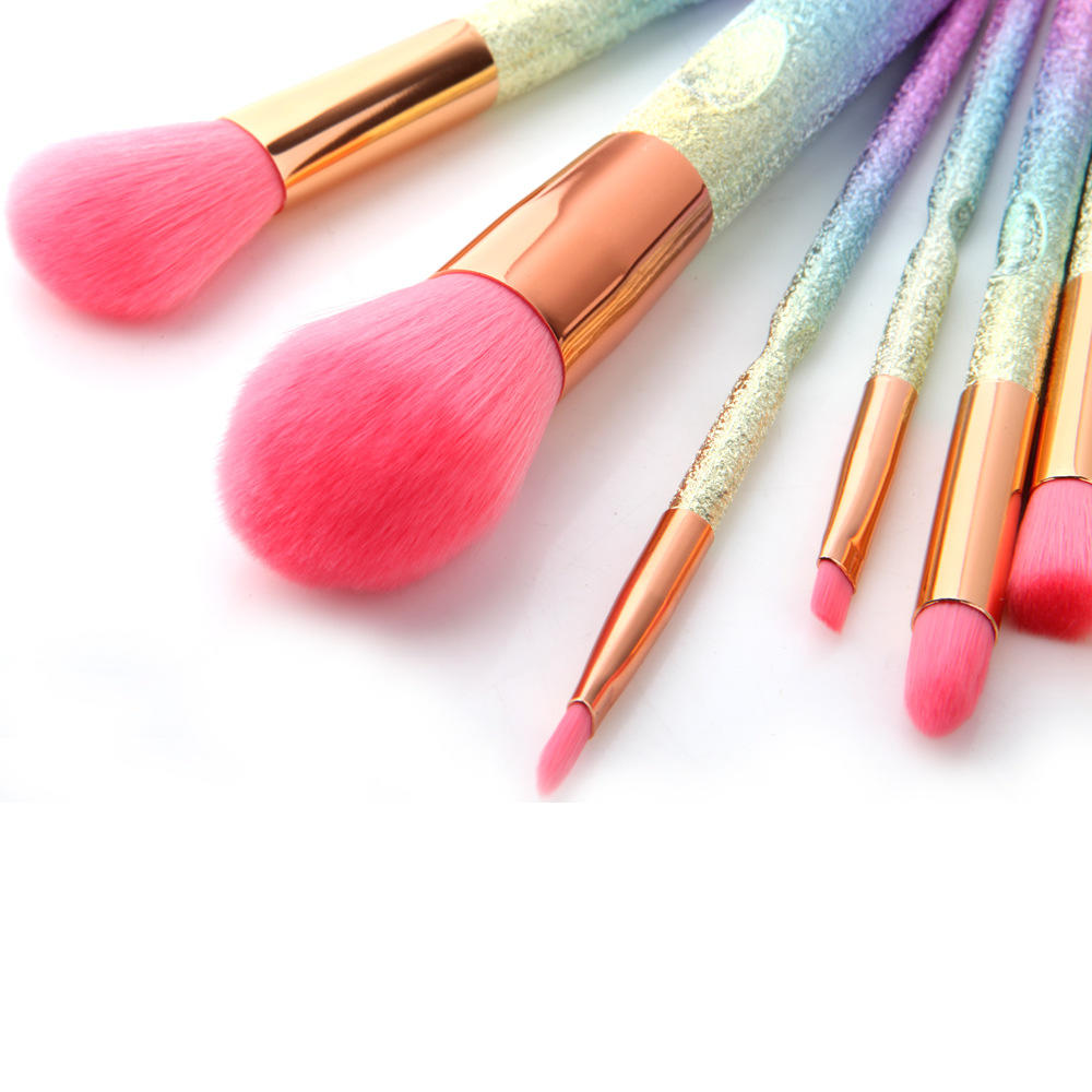 Synthetic hair Luxury bling diamond makeup brush rhinestone glitter makeup brush set