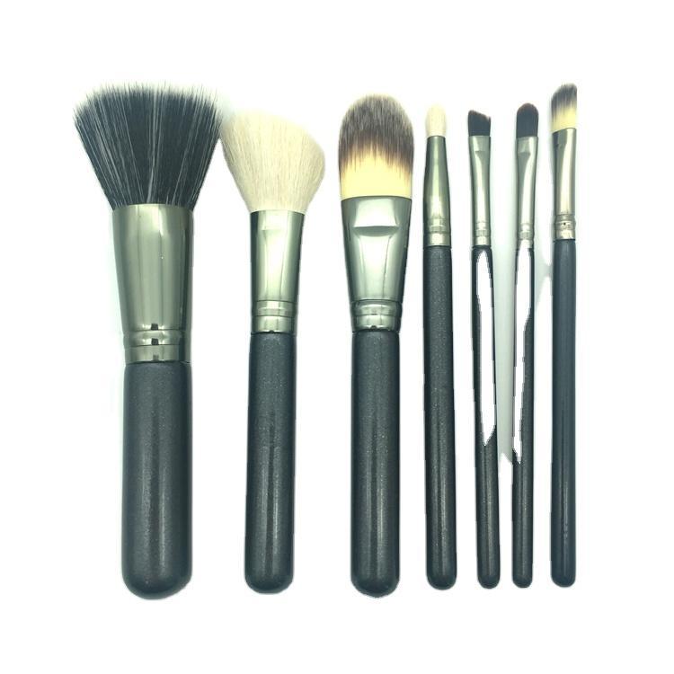 Suprabeauty 7pcs Makeup Brushes Private Label Custom Logo Goat Hair Professional Cosmetic Make Up Brush Set