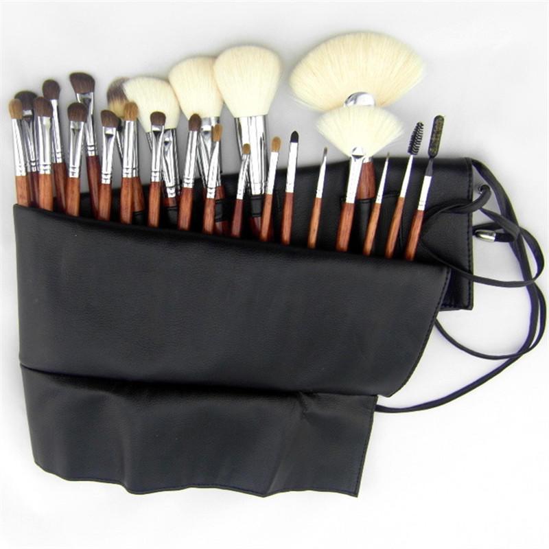 brush make set up Black Luxury Makeup Brush Set Kit Wholesale Wood Handle Private Label foundation Cosmetic makeup brushes