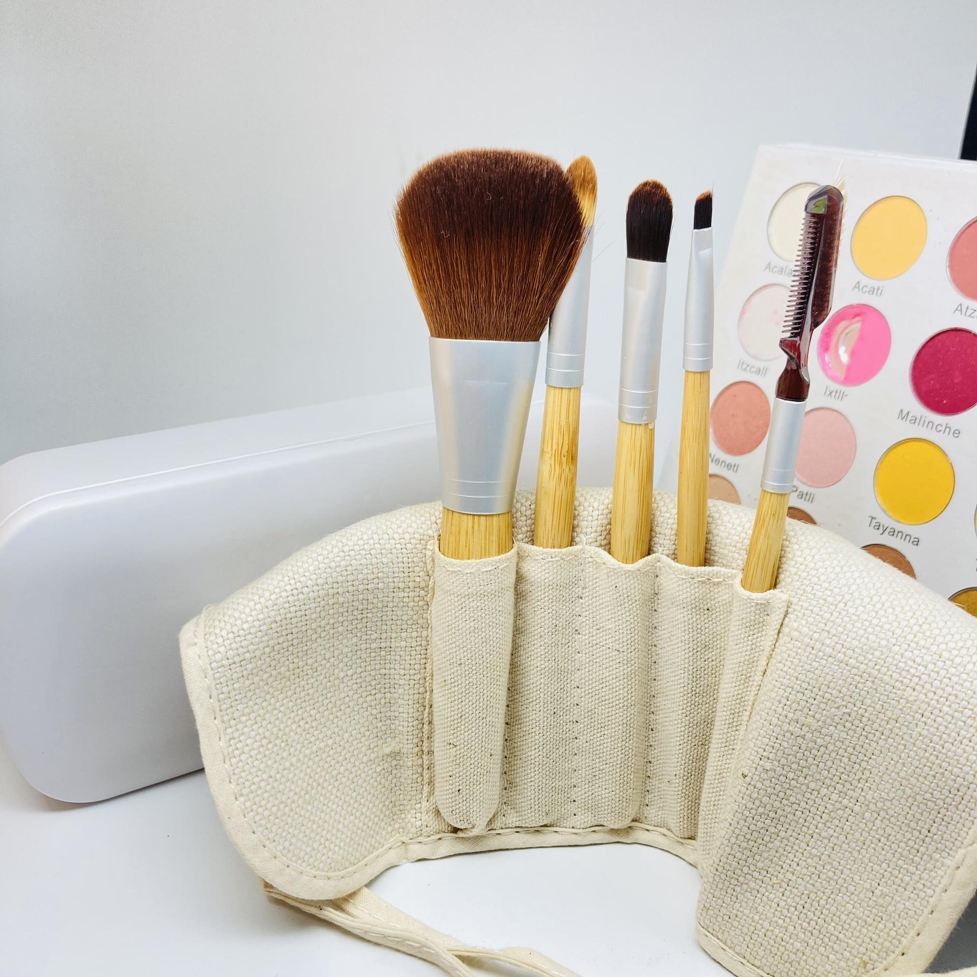 Bamboo make up brush private label eco friendly organic make up brush