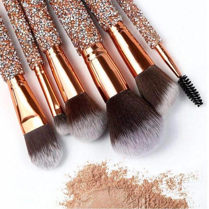 Wholesale Suprabeauty 10pcs crystal makeup brush set