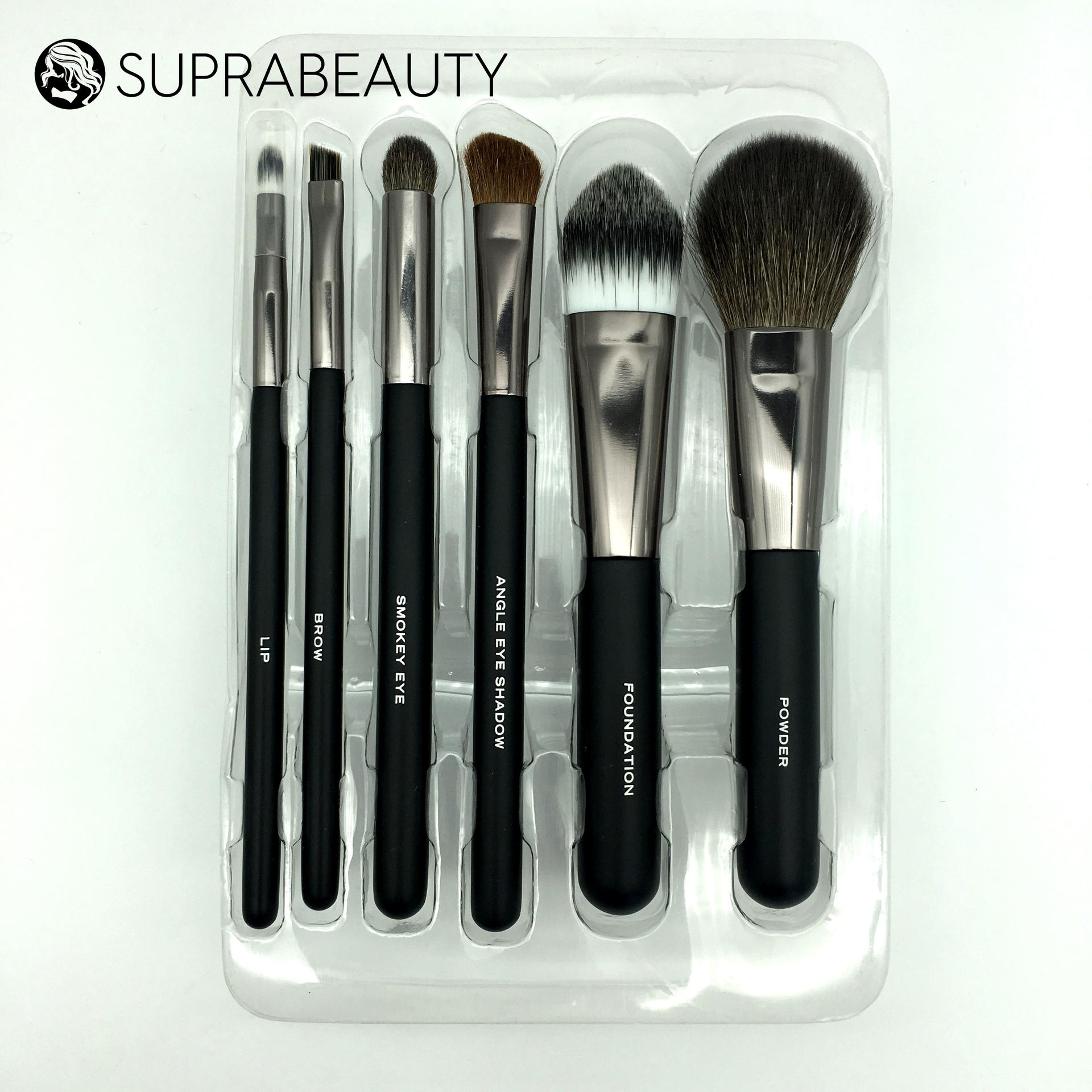 Natural Hair Makeup Brushes Angled Blusher Highlight Eyeshadow Blender Blending Brush brochas maquillaje profesional