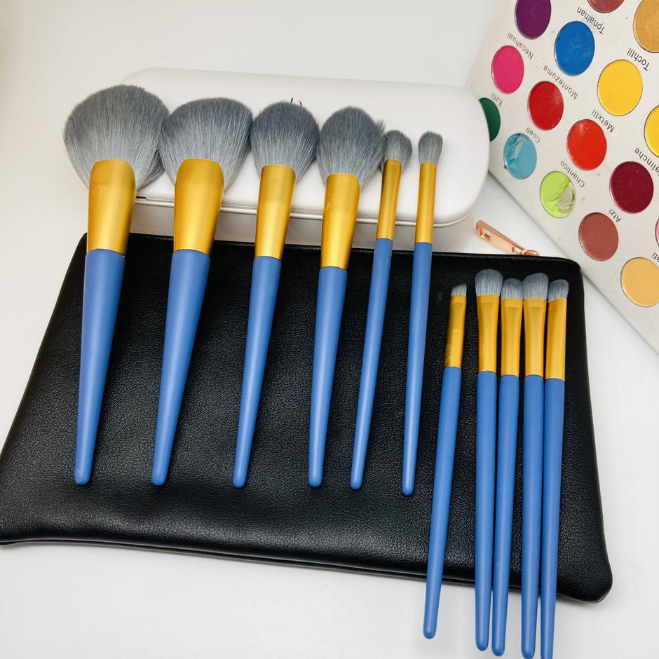 Makeup brush packaging with sterilized compact box private labelhigh quality makeup brushes