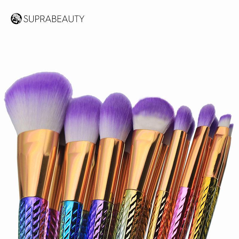 Natural make up bling rhine stone diamondprivate label make up brushes