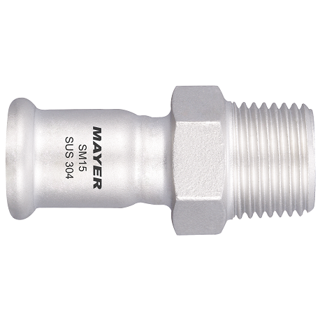 Stainless Plumbing Fitting Coupling with Male Thread M Profile