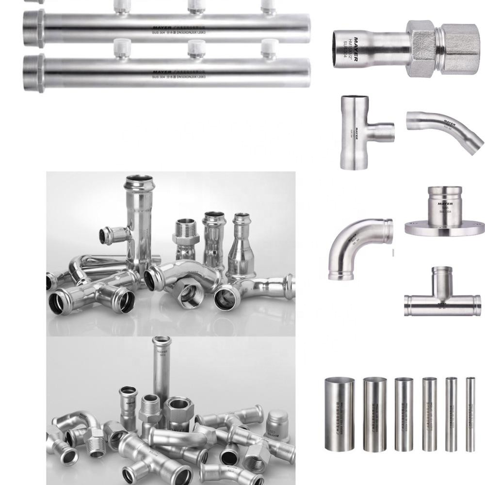 factory direct sales stainless steel union female thread fitting press pipe fitting SS304/316L