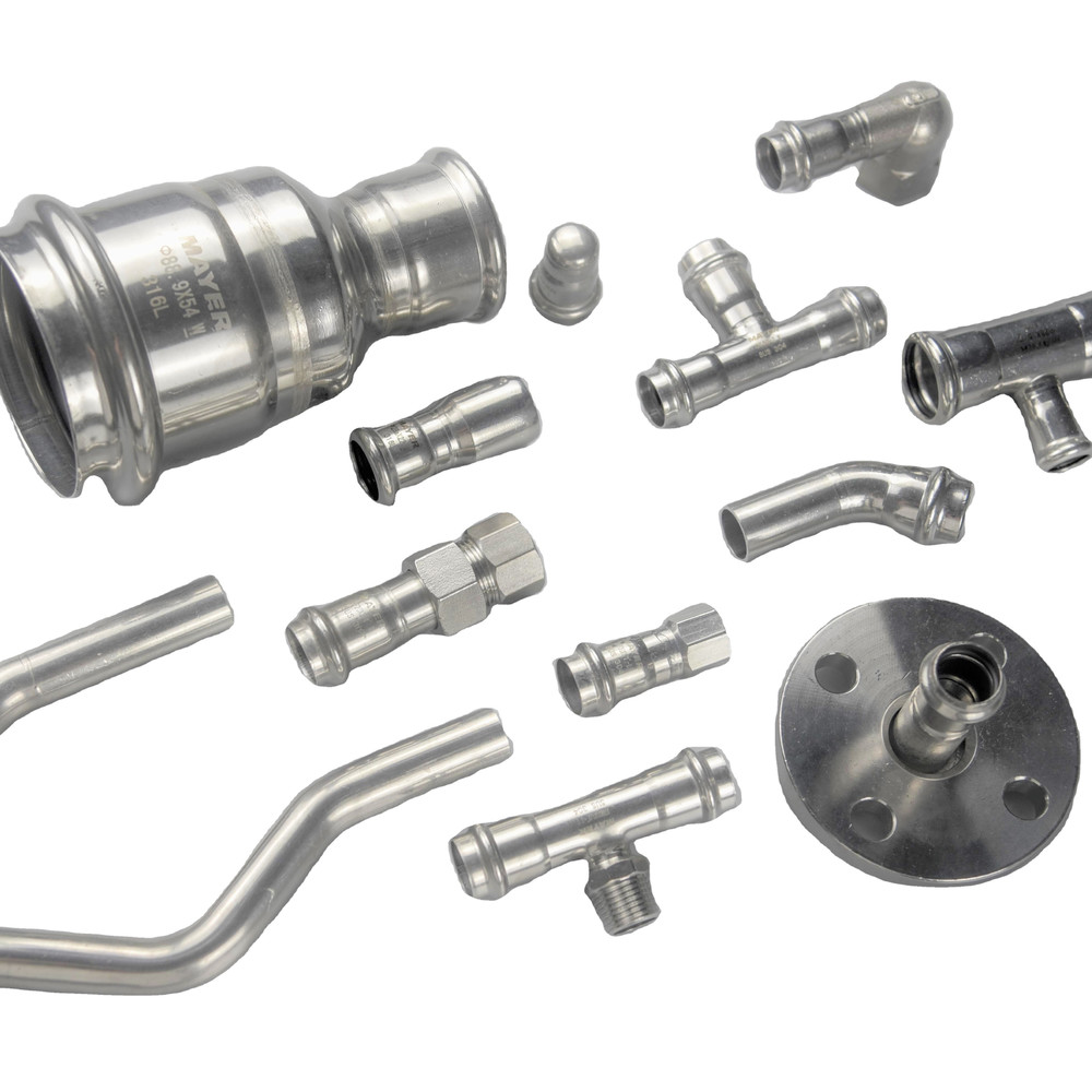 SUS304/316 stainless steel welded pipe fittings for sanitary use in water supply