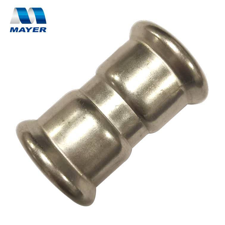 stainless steel equal coupling single compression press plumbing fitting pipe
